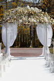 Beautiful arch  in the garden for wedding ceremony. Stock Images