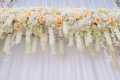 Beautiful arch with white roses for wedding ceremony Stock Image