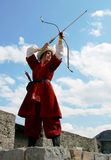 Beautiful archer Royalty Free Stock Image