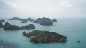 Beautiful archipelago of tropical islands in the Gulf of Thailand just south of Bangkok. Stock Photos