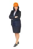 Beautiful architect woman Royalty Free Stock Image