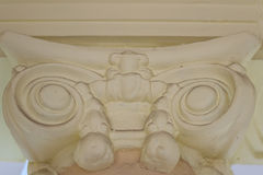 Beautiful architectural detail of vintage Greek-Roman styles col. Umns pattern stock photo