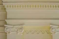 Beautiful architectural detail of vintage Greek-Roman styles col. Umns pattern stock image