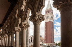 Beautiful architectural details of galleria at the Venetian Stock Photography