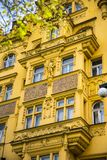Beautiful Architectural details in Prague in the Czech Republic. There are many styles and original features in this wonderful cit stock images