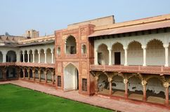 Beautiful architecture of Agra fort,famous landmark,unesco heritage Stock Images