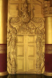 Beautiful Architecture of Ancient Gold Door Royalty Free Stock Photos
