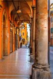 Beautiful architecture of the ancient Italian city of Bologna. stock photo