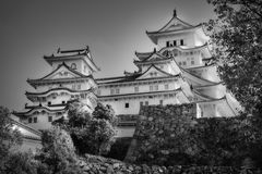 Beautiful Architecture in black and white of the famous Himeji Castle in Japan. Beautiful Architecture in black and white of the famous Himeji Castle, one of the stock images