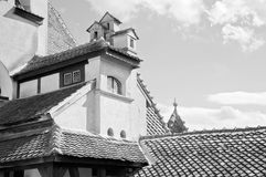 Beautiful architecture at Bran Castle Royalty Free Stock Image