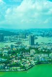 Beautiful architecture building cityscape in macau royalty free stock images