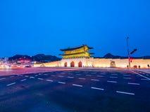 Beautiful architecture building of gyeongbokgung palace. Landmark of Seoul city in South Korea royalty free stock image