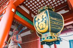 Beautiful architecture building sensoji temple is the famous place for visit in asakusa area royalty free stock images