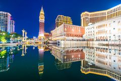 Beautiful architecture building of venetian and other hotel resort and casino stock images