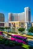Beautiful architecture building of venetian and other hotel resort and casino royalty free stock images