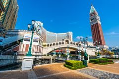 Beautiful architecture building of venetian and other hotel resort and casino