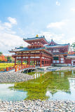 Beautiful Architecture Byodo-in Temple at Kyoto. Royalty Free Stock Photo