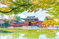 Beautiful Architecture Byodo-in Temple at Kyoto. Stock Photos