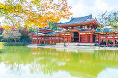Beautiful Architecture Byodo-in Temple at Kyoto. Royalty Free Stock Photos