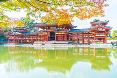 Beautiful Architecture Byodo-in Temple at Kyoto. Stock Images
