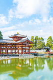 Beautiful Architecture Byodo-in Temple at Kyoto. Royalty Free Stock Images
