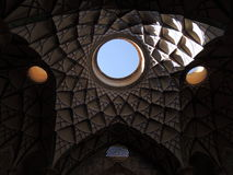 Beautiful architecture ceiling mosaic design in Kashan, Iran Royalty Free Stock Images