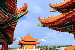 Beautiful architecture in china's style. Beautiful architecture china's style this place for people worship Stock Photos