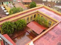 Beautiful architecture of Cuba. Beautiful houses in Cuba, small towns, beautiful architecture, small houses, neat little houses, beautiful houses, beautiful royalty free stock photo