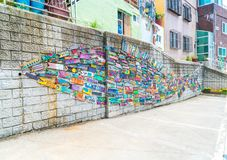 Beautiful Architecture at Gamcheon Culture Village in Busan Stock Image