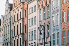 Beautiful architecture of Gdansk city old town Royalty Free Stock Images
