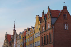 Beautiful architecture of Gdansk city old town Stock Photo