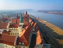 Beautiful architecture of Grudziadz at Wisla river. Poland Royalty Free Stock Photos