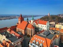 Beautiful architecture of Grudziadz at Wisla river. Poland Royalty Free Stock Image