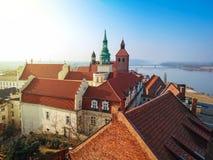 Beautiful architecture of Grudziadz at Wisla river. Poland Stock Photo