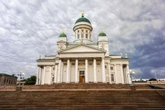 Helsinki cathedral. Beautiful architecture of Helsinki cathedral in beautiful evening. Helsinki, Finland Royalty Free Stock Photo