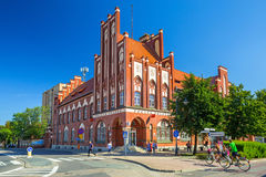 Beautiful architecture of historical post office in Tczew Royalty Free Stock Photos