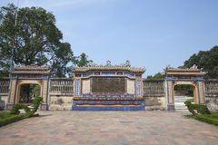 Beautiful architecture at the Hue Citadel in Vietnam Royalty Free Stock Image