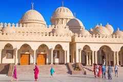 Beautiful architecture of Hurghada Marina Mosque in Egypt Stock Photography