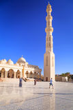 Beautiful architecture of Hurghada Marina Mosque in Egypt Stock Image
