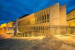 Beautiful architecture illuminated at evening,Malta.  Stock Images