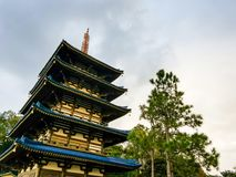 Japanese tower stock photography