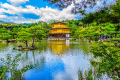 Beautiful architecture at Kinkaku-ji (Temple of the Golden Pavil. Ion), officially named Rokuon-ji (Deer Garden Temple), a Zen Buddhist temple in Kyoto, Japan Stock Photos