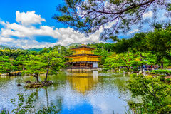 Beautiful architecture at Kinkaku-ji (Temple of the Golden Pavil. Ion), officially named Rokuon-ji (Deer Garden Temple), a Zen Buddhist temple in Kyoto, Japan Royalty Free Stock Image