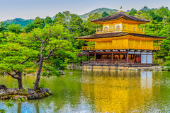 Beautiful architecture at Kinkaku-ji (Temple of the Golden Pavil Stock Image