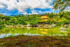 Beautiful architecture at Kinkaku-ji (Temple of the Golden Pavil. Ion), officially named Rokuon-ji (Deer Garden Temple), a Zen Buddhist temple in Kyoto, Japan Royalty Free Stock Images