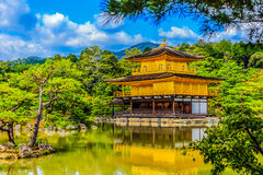 Beautiful architecture at Kinkaku-ji (Temple of the Golden Pavil. Ion), officially named Rokuon-ji (Deer Garden Temple), a Zen Buddhist temple in Kyoto, Japan Stock Image