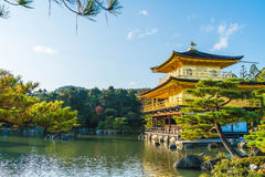 Beautiful Architecture at Kinkakuji Temple (The Golden Pavilion) Royalty Free Stock Photography