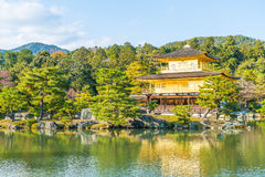 Beautiful Architecture at Kinkakuji Temple (The Golden Pavilion). In Kyoto, Japan Royalty Free Stock Photos