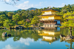 Beautiful Architecture at Kinkakuji Temple (The Golden Pavilion). In Kyoto, Japan Stock Image