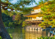 Beautiful Architecture at Kinkakuji Temple (The Golden Pavilion). In Kyoto, Japan Stock Images